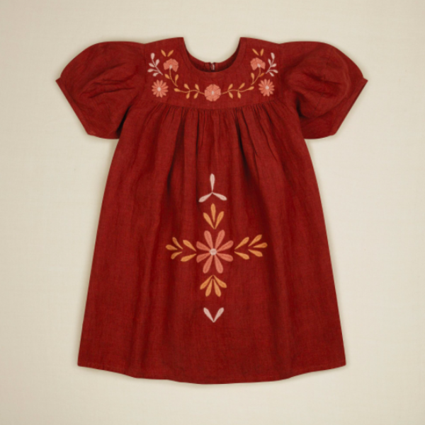kids Apolina Alma Dress - Earth