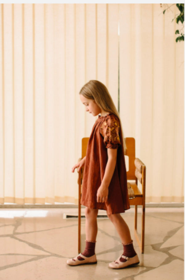 kids Apolina Vera Dress - Earth