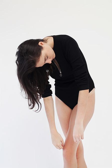 Pari Desai Tiff Knit Bodysuit - Black