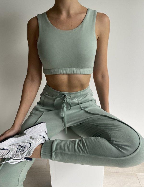 Parentezi Pima Cotton French Terry Sweatpants - Soft Mint