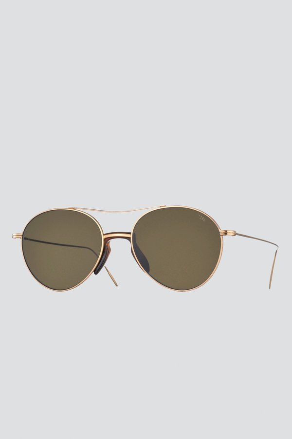 Eyevan 7285 Metal 716 Sunglasses - Gold