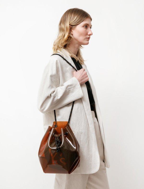 Y's by Yohji Yamamoto Translucent Bucket Bag - Brown