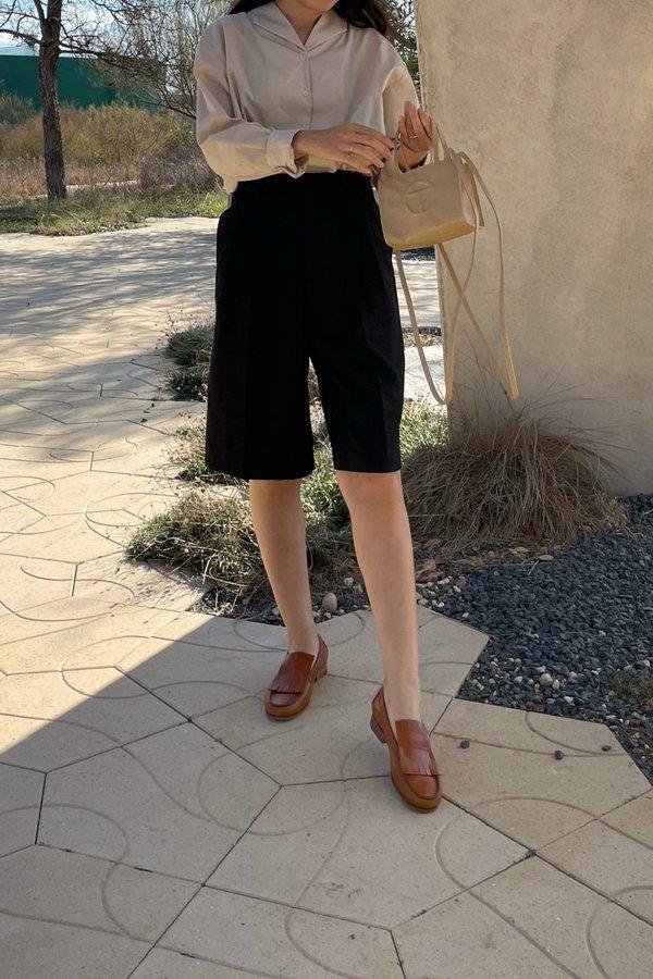 Understanding Spring Bermuda shorts - Black