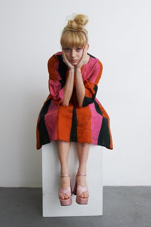 Osei-Duro Mutare Dress - Carmine