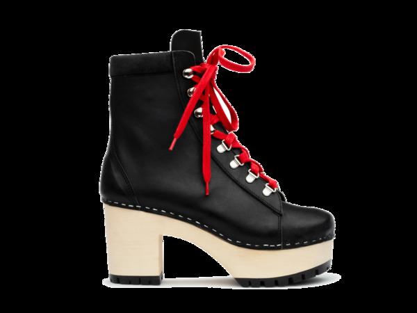 Swedish Hasbeens Hiking Boot - Black