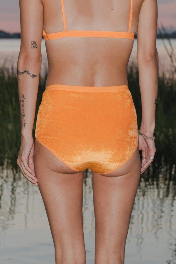 Baserange High Waist Bell Pants - Isla Orange