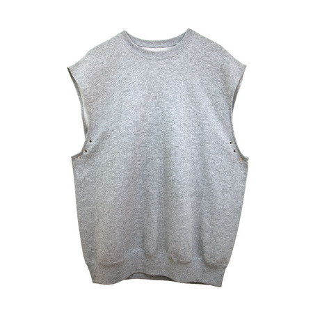 Slow and Steady Wins the Race Sleeveless Eyelet in Grey