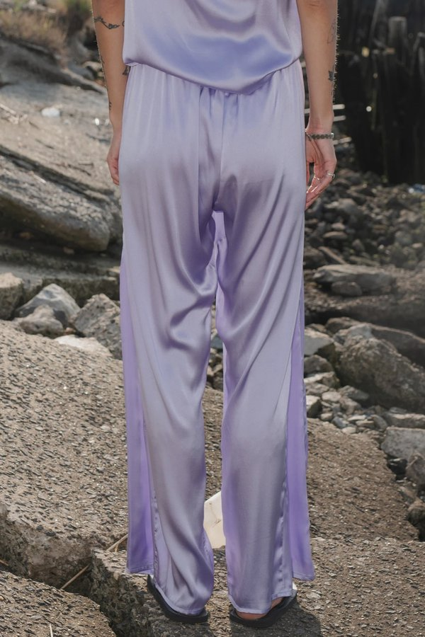 Baserange Silk Mir Pants - Laguna Purple