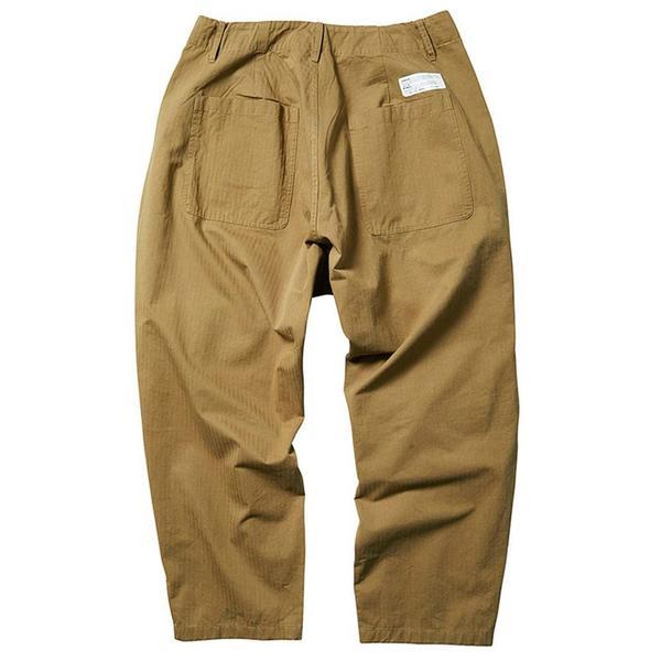 Herringbone Sarrouel Pants 'Beige'
