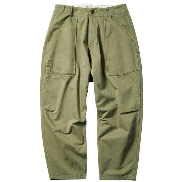 Herringbone Sarrouel Pants 'Olive'