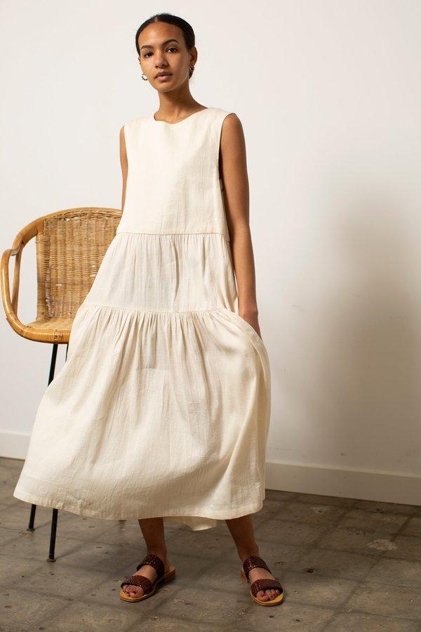 Micaela Greg Tier Dress - Natural