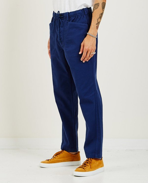 Alex Mill Pull-On Button Fly Pant - Navy