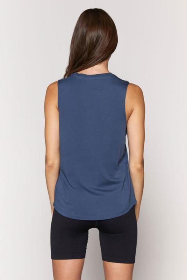 Spiritual Gangster Peace Muscle Tank - Faded Navy