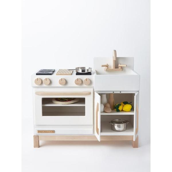 milton & goose essential play kitchen white