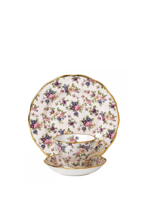 100 Years 1940 English Chintz 3P Place Set