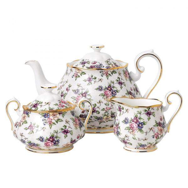 100 Years 1940 English Chintz 3P Tea Set