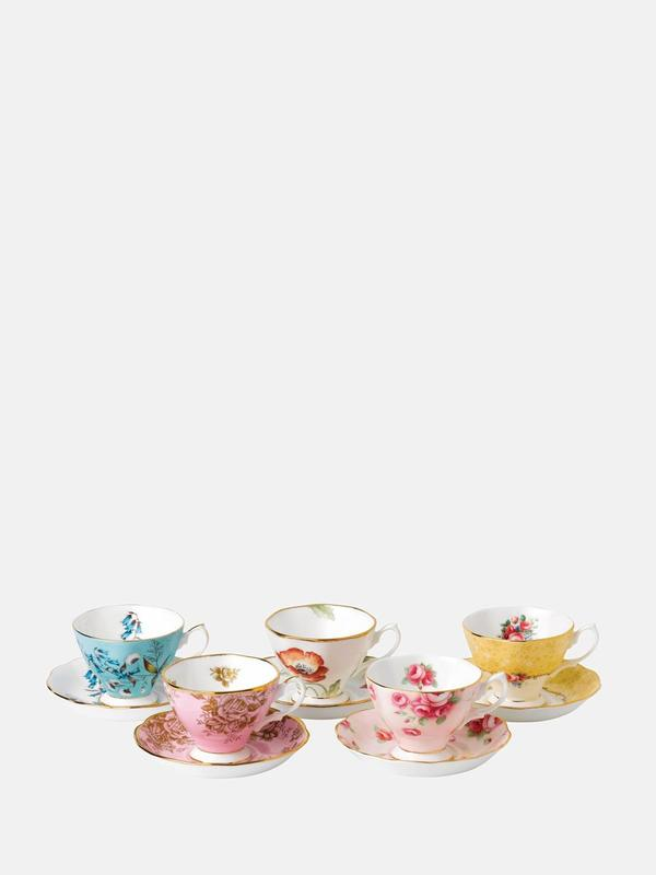 100 Years 1950-1990 5P Teacup Saucer set