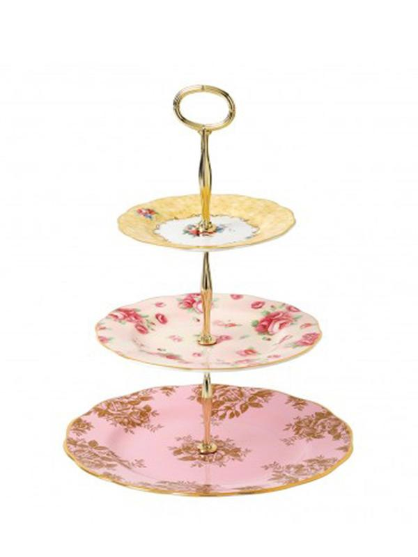 100 Years 3-Tier Cake Stand-Bouquet