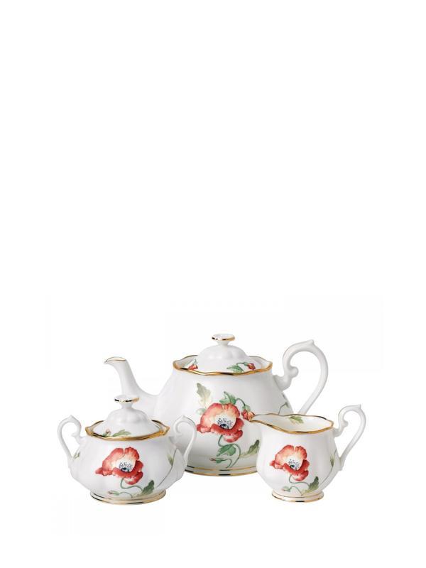 100 Years Poppy 3P Tea SET