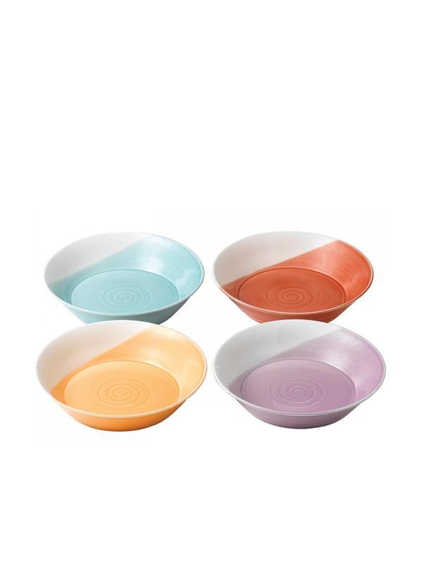1815 Bright Colors Pasta Bowls, Set of 4