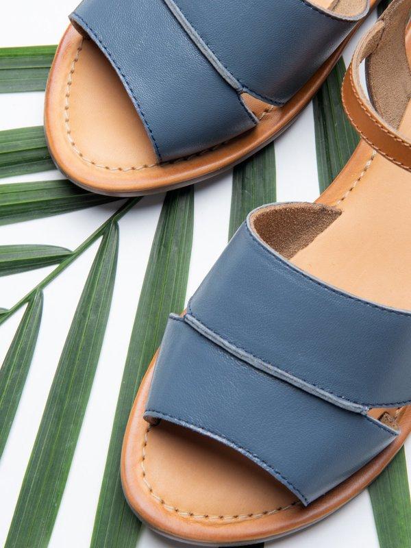 Ankle Strap Sandal_CB_Blue/Tan