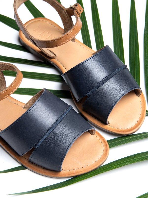 Ankle Strap Sandal_CB_Navy/Tan