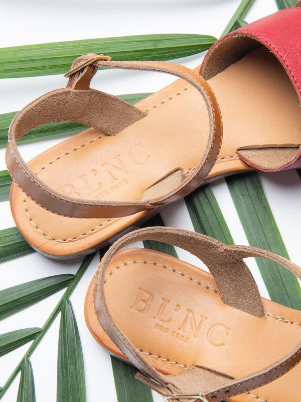 Ankle Strap Sandal_CB_Red/Tan