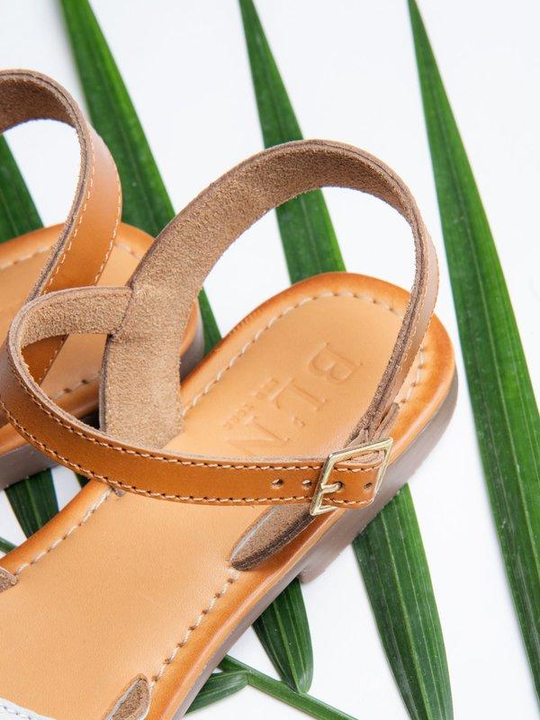 Ankle Strap Sandal_CB_White/Tan