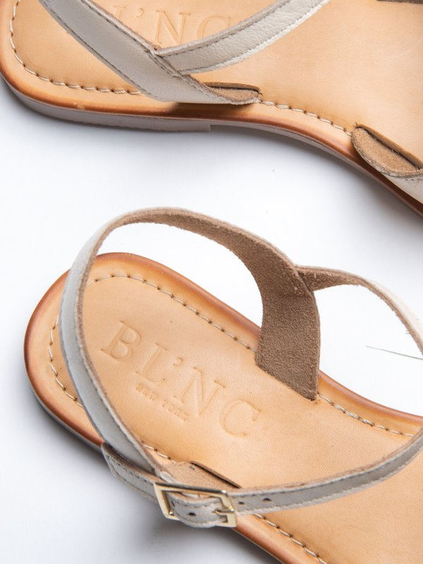 Ankle Strap Sandal_Cream