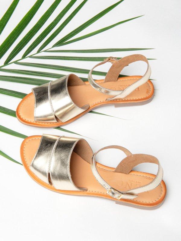 Ankle Strap Sandal_Gold