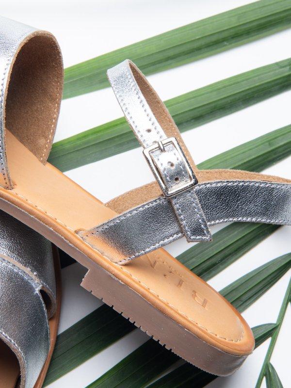 Ankle Strap Sandal_Silver