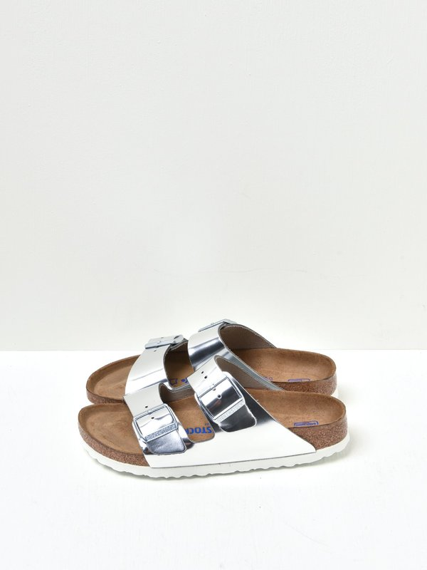 ARIZONA SF LEATHER_METALLIC SILVER