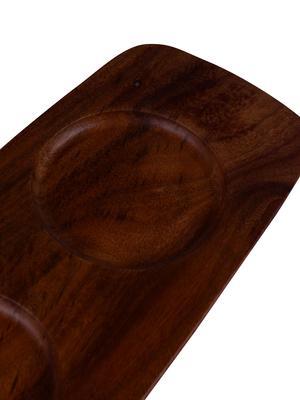 ARTESANO Dip Bowl 3ea and Acacia Wood Tray