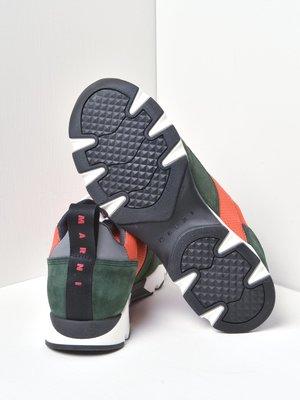 Marni AT488 shoes - FLUO ORANGE/DARK PETROL