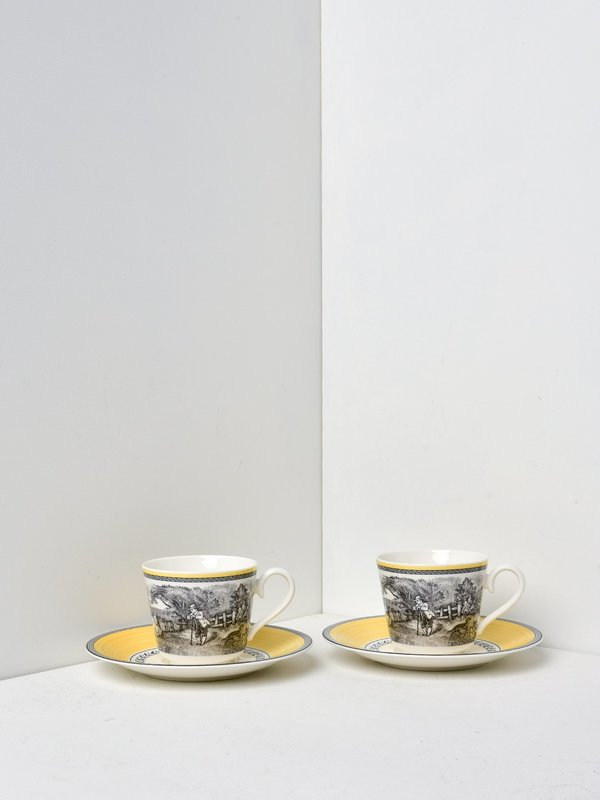 Audun Ferme Breakfast Cup and Saucer for 2