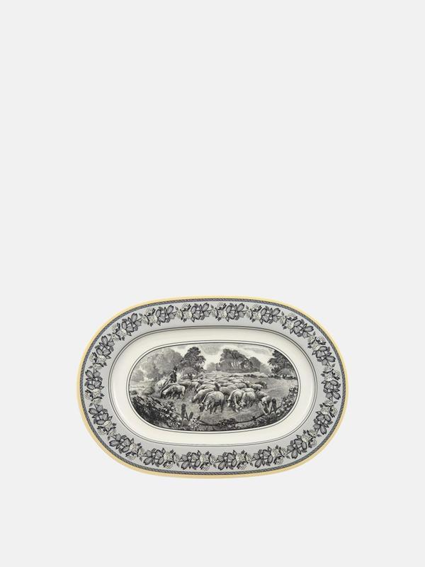 Audun Ferme Oval Plate 13 1/4in
