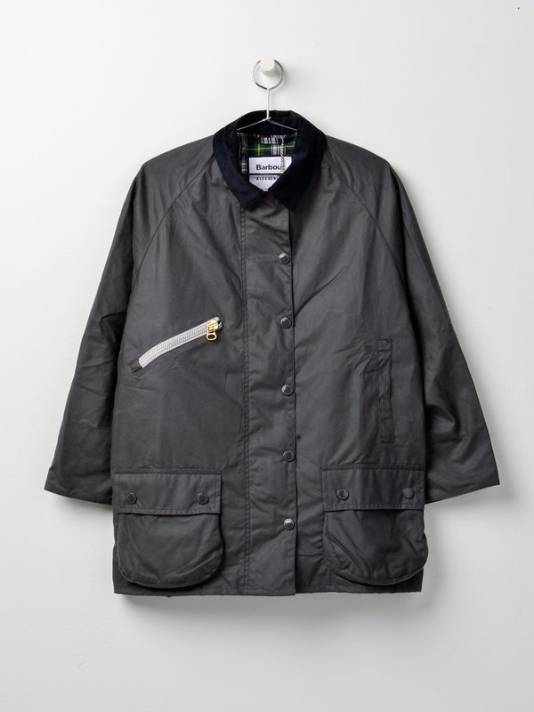 Barbour Edith Wax_Charcoal