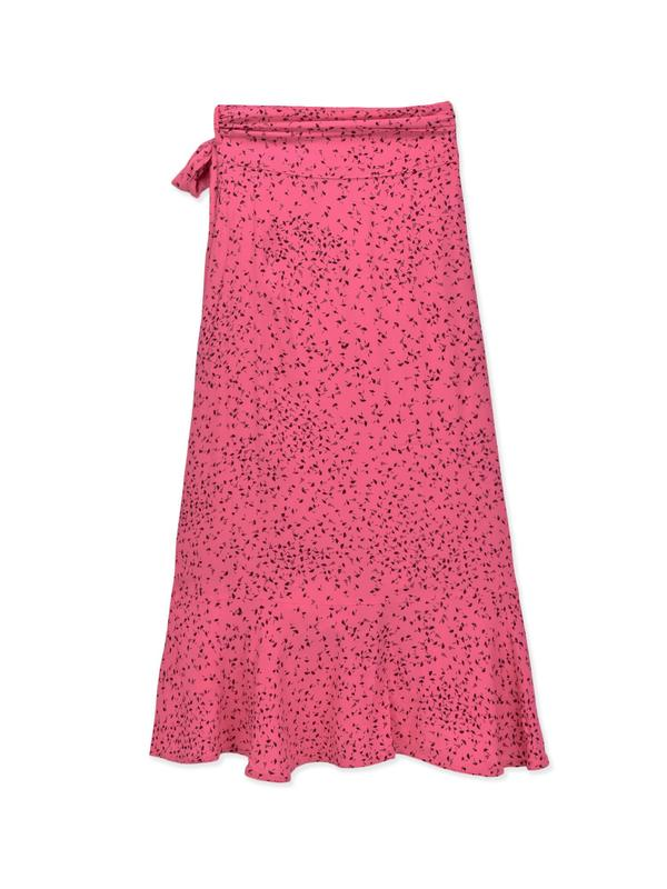 Barra Crepe Skirt_Hot Pink