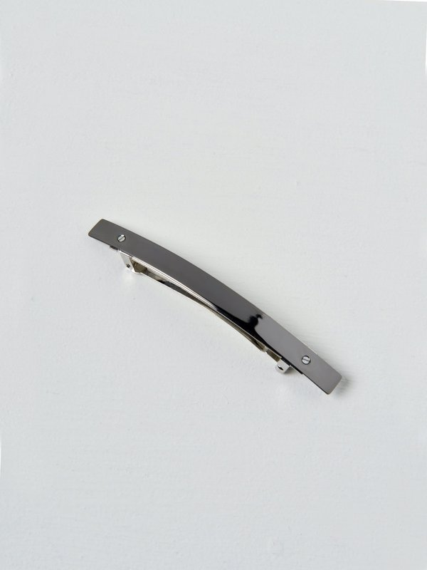 Barrette 021 XL argent noir / black silver