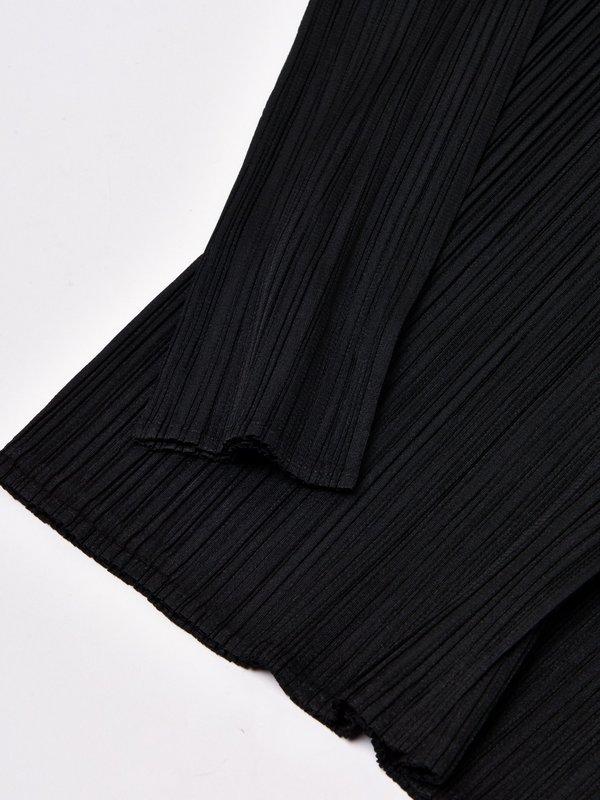 BASICS_PLEATS SHIRT_15 BLACK
