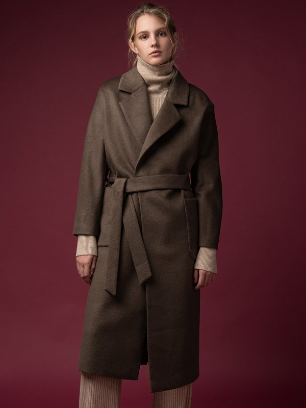 Belted Coat_Cocoa Brown