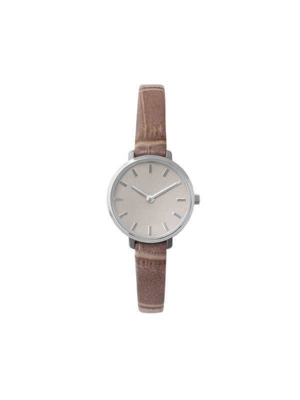 Beverly (Croc) - Silver/Taupe/Taupe