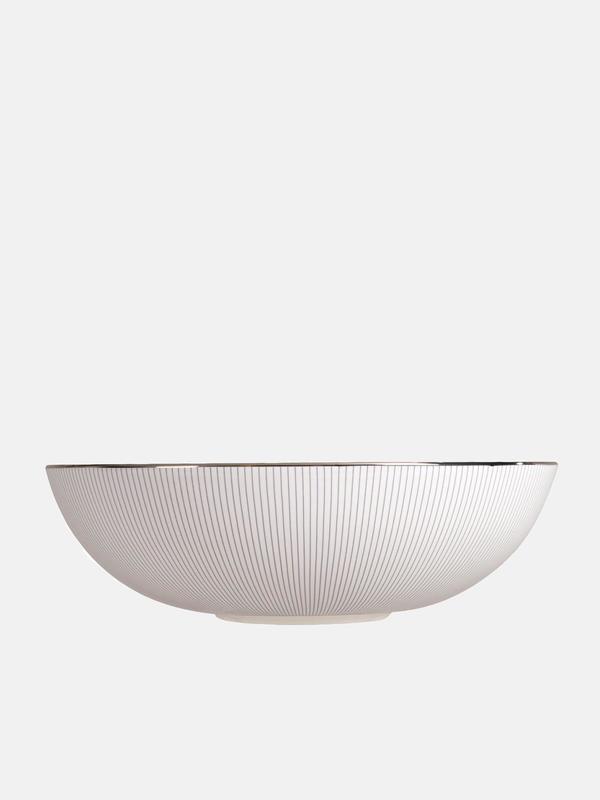 Blue Pin Stripe Serving Bowl