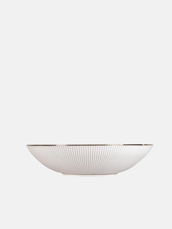 Blue Pin Stripe Soup Bowl