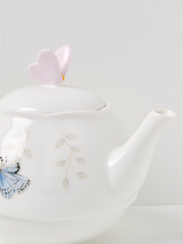 Butterfly Meadow Stack Teaset with Back Holder