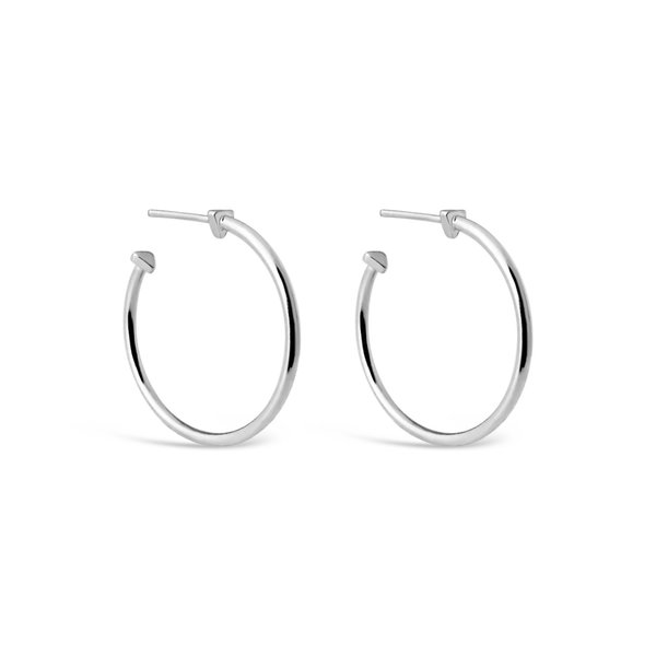 Sierra Winter Jewelry 9 A.M. Hoop Earrings - Sterling Silver