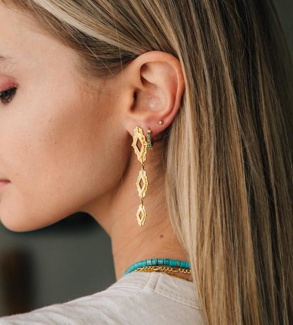 Sierra Winter Jewelry Astra Earrings - Gold Vermeil