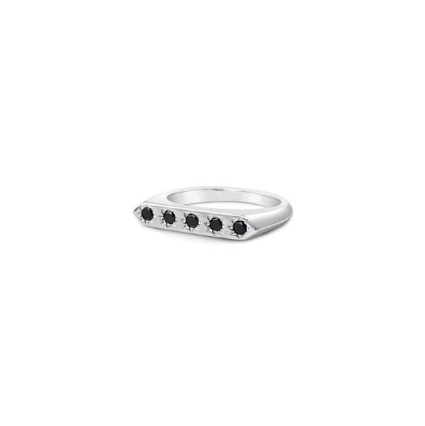 Sierra Winter Jewelry Constellation Ring - Sterling Silver/Black Diamond