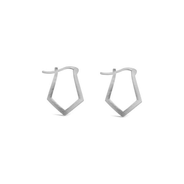 Sierra Winter Jewelry Delta Hoop Earrings - Sterling Silver