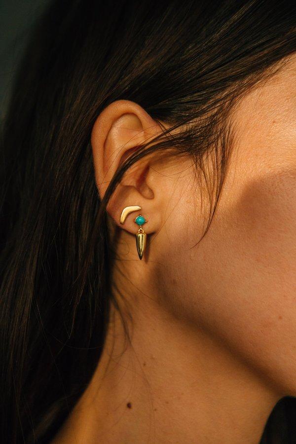 Sierra Winter Jewelry Desperado Earrings - Gold Vermeil/Turquoise